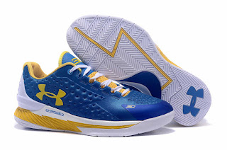 Sepatu Basket Under Armour Curry 1 Team Blue Warriors