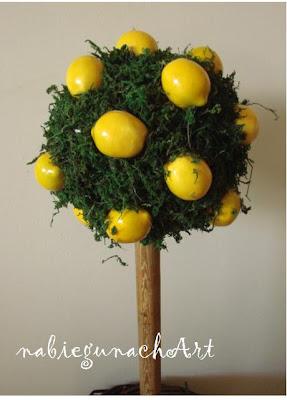 Cytrynowe drzewko i stroik wielkanocny