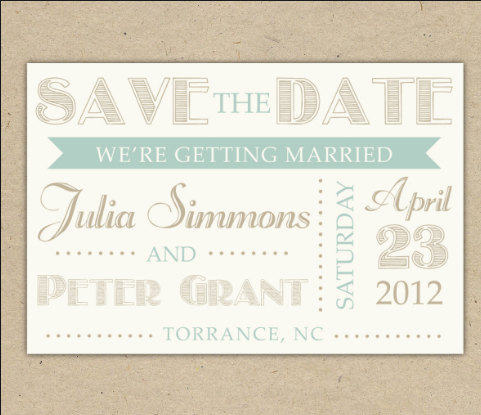 Free Printable Wedding Save The Dates