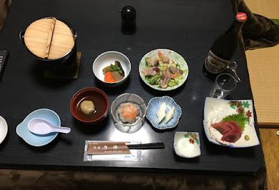 民宿力休の夕食