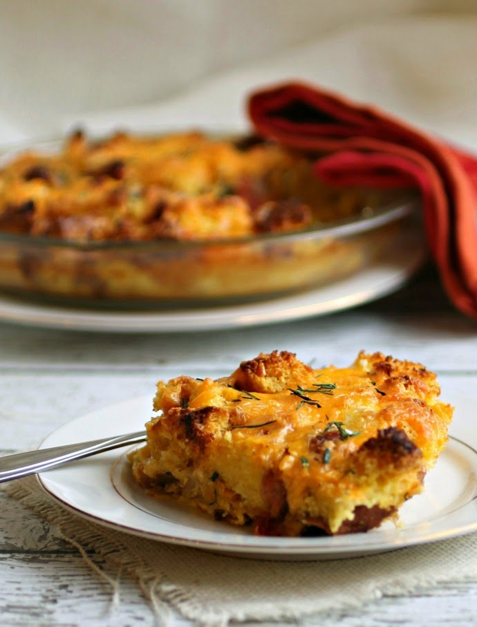 Southwestern Egg and Sausage Cornbread Bake