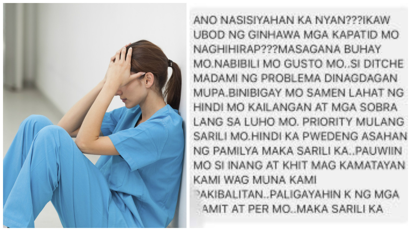 OFW nurse receives painful message from brother