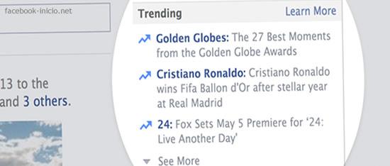 Trending Topics del Facebook