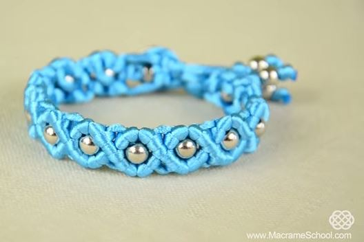 Easy Satin Cord Wave Macrame Bracelet Tutorial The Beading Gem S Journal