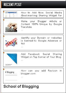 "How can you ""Add a Dynamic Recent  Post Widget "" in blogger.com"