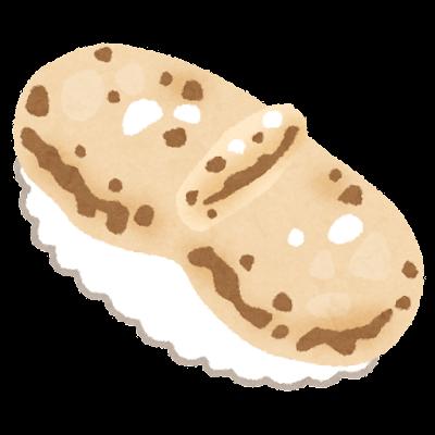 炙りホタテのお寿司のイラスト