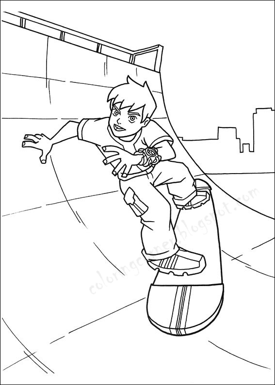 waybig coloring pages | Ben 10 Coloring Pages