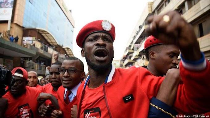 Bobi Wine: Uganda's pop star MP 're-arrested at airport'