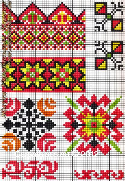 Гуцульський орнамент вишиванки №38. 692d45ab347d5