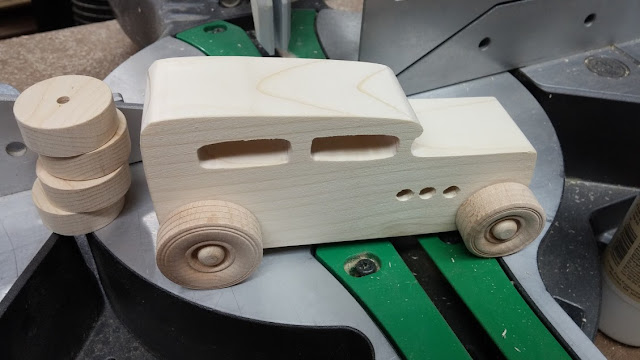 Wooden Toy Car - Unfinished - 1932 Ford Sedan - Hot Rod