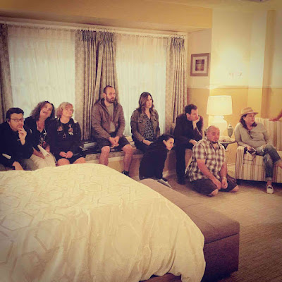 Marlene King and PLL crew working on episode 7x02 Bedlam