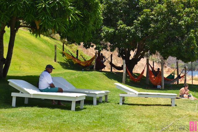 Área relaxante no Restaurante Angicos