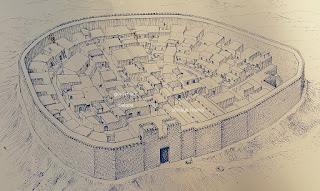 mapa de lo que era la antigua ciudad de Tel Be'er Sheva
