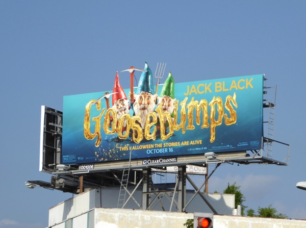 Garden Gnomes Goosebumps billboard