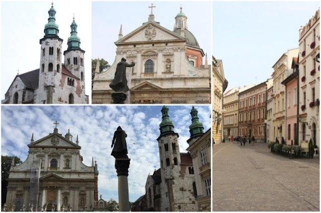 Iglesia de San Andres – Basilica de los Santos Pedro y Pablo – Calle en Cracovia