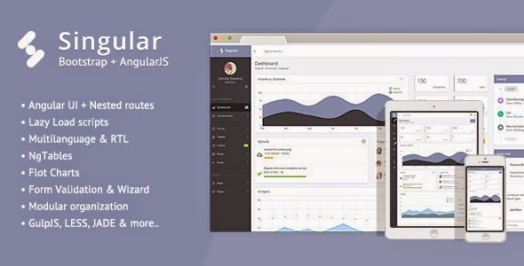 Best Bootstrap Admin Theme + AngularJS