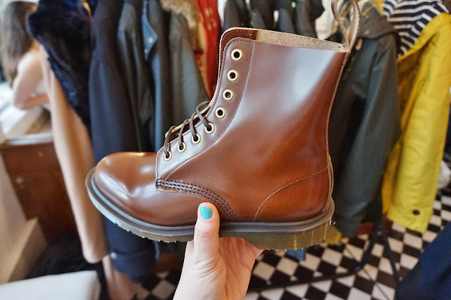 brown doctor marten boot