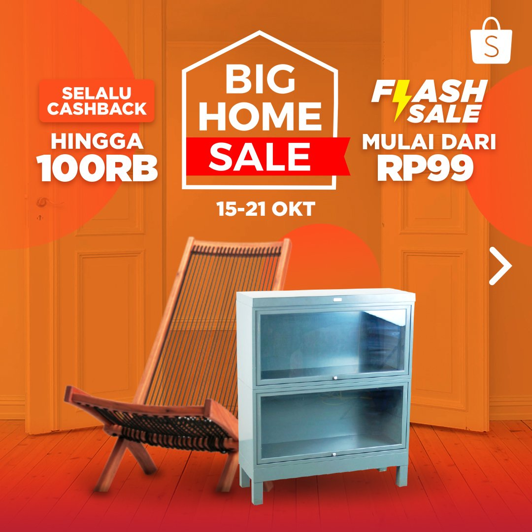 Shopee - Promo Big Home Sale Mulai 99 Ribu & Cashback s.d 100 RIbu (s.d 21 Okt 2018)