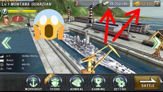 تحميل لعبة warship battle 3d مهكرة 100%