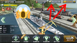 لعبة warship battle 3d مهكرة كاملة
