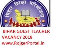Bihar Guest Teacher Vacancy 2018 Notification