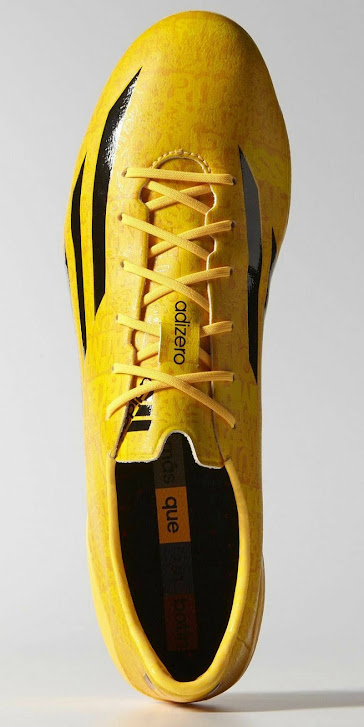 eaea2574288b The gold Adidas Adizero IV Lionel Messi Boot comes with a really unique  upper design. The synthetic upper, designed for lightweight and speed,  features some ...