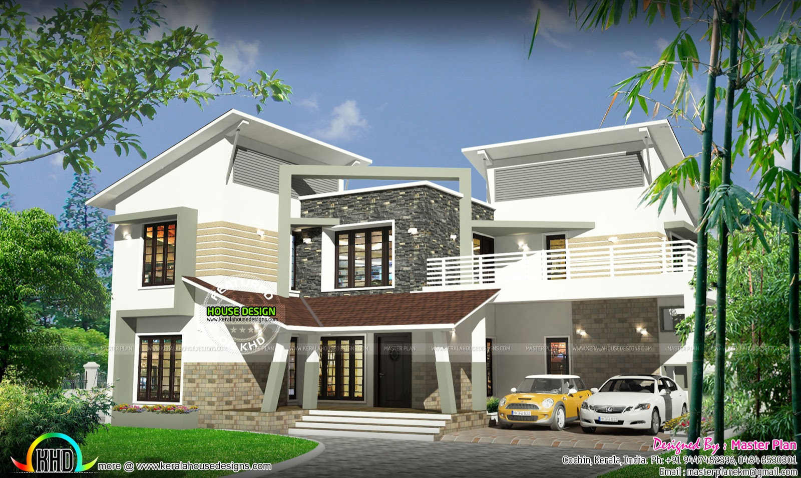 ₹50 Lakhs contemporary home - Kerala home design and floor ...
