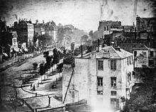 Primer Daguerrotipo. Boulevard du Temple.