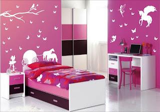 Contoh Desain Kamar Anak Perempuan Sederhana Pink Cantik