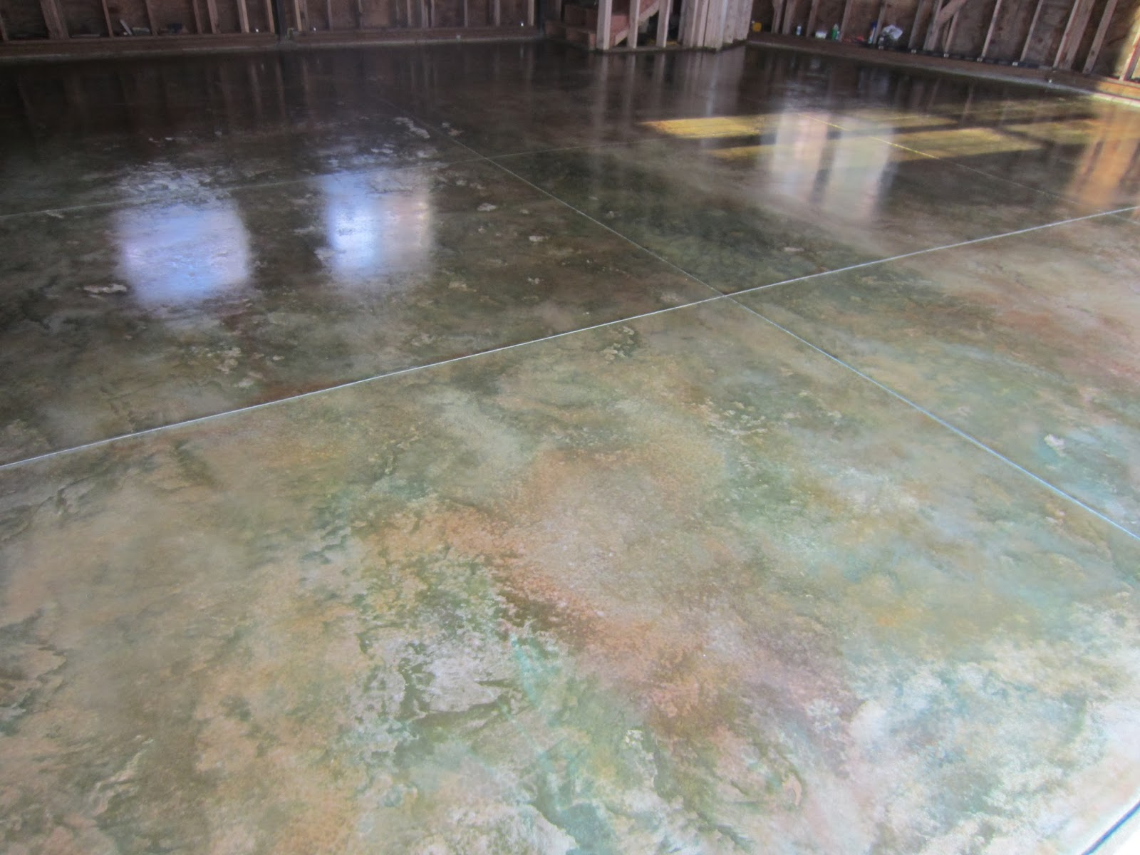 Acid Stained Concrete For Airplane Hangars Workore
