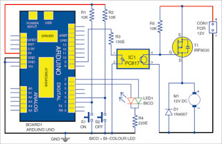 Arduino Uno Board - DC Motor Starter