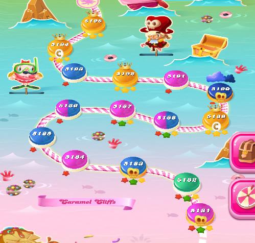 Candy Crush Saga level 5181-5195
