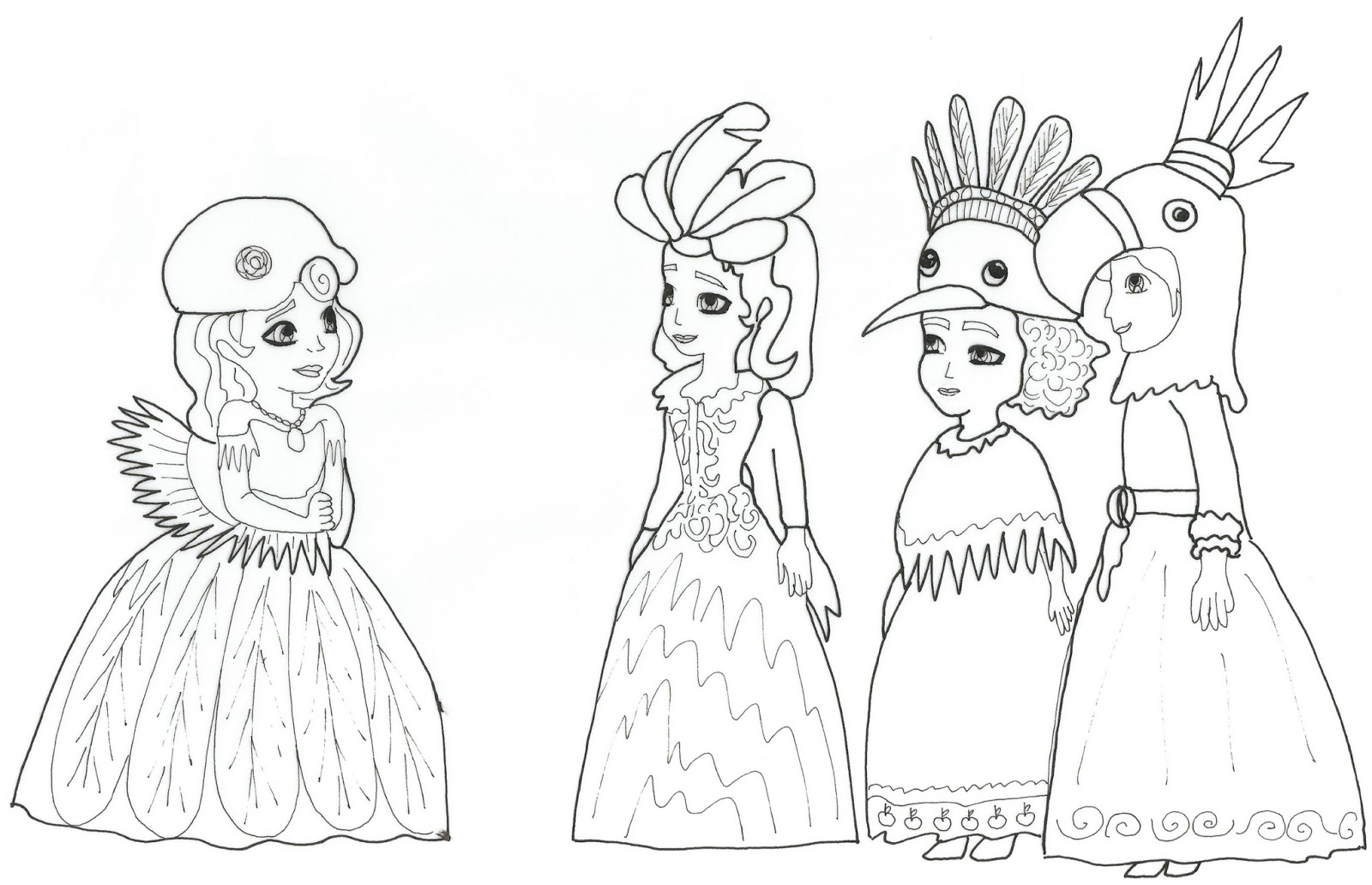 Sofia The First Coloring Pages: 2016