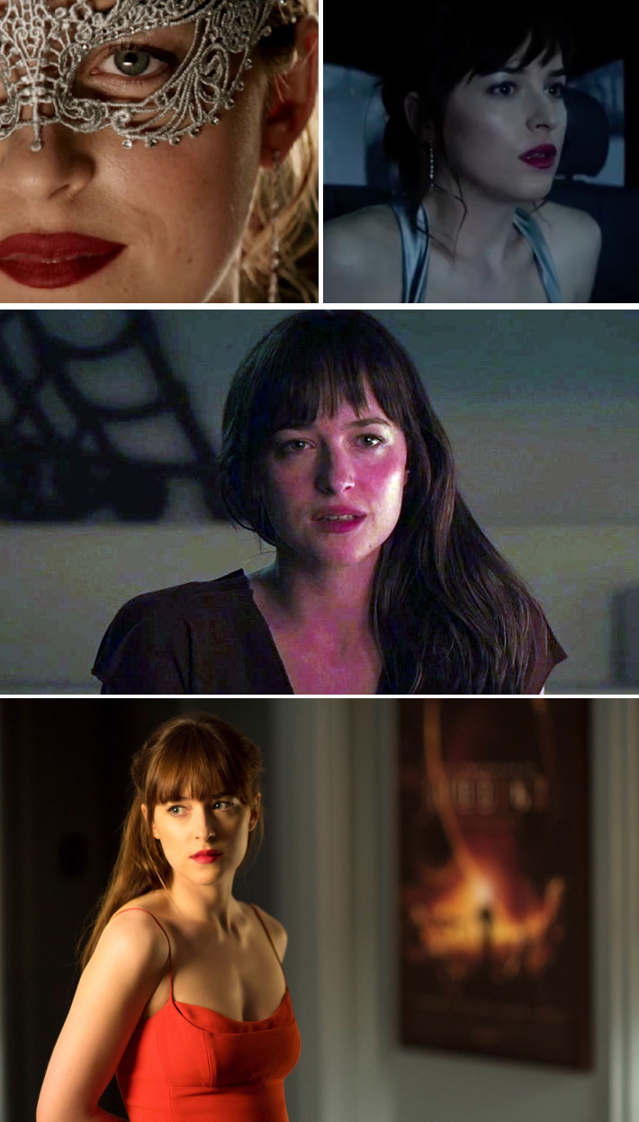Anastasia Steele lipstick 50 shades darker