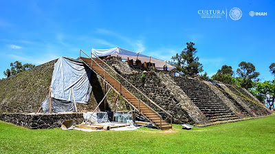 7.1 magnitude earthquake in September last year in Southern Mexico exposes an undiscovered 900-year-old temple at the base of an ancient pyramid in Teopanzolco - an Aztec archaeological site in Cuernavaca, southern Mexico.
