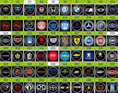 Car Logos With Names - Car Show Logos