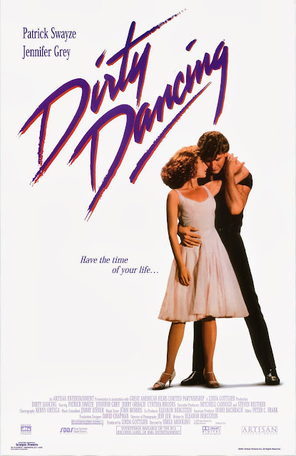 Cartaz (poster) do filme Dirty Dancing, com Patrick Swayze e Jennifer Grey. 1987.