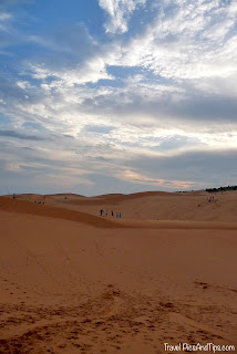 The red sand dunes in Mui Ne in Vietnam