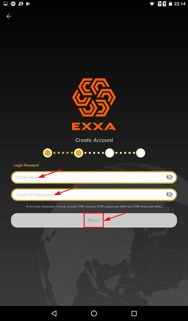Регистрация в EXXA Network 4