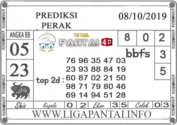 """PREDIKSI TOGEL """"PERAK"""" PANTAI4D 08 OKTOBER 2019"""