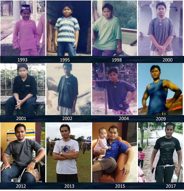 Perubahan Bentuk Badan Saya Dari Kanak-Kanak ke Dewasa