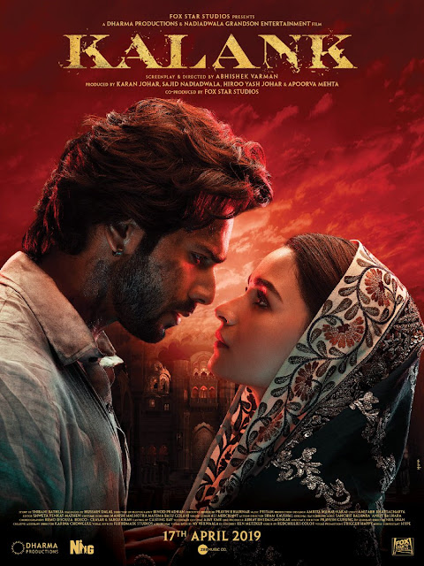 Poster-Kalank Movie, Song, Trailer,  Release Date, Kalank Movie Download HD