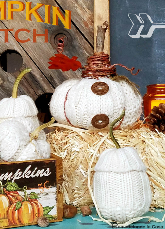 pumpkin pat - orange votives, pine cones, chalkboard