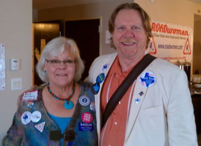 Committeeman Candidate James White and Barb Walters