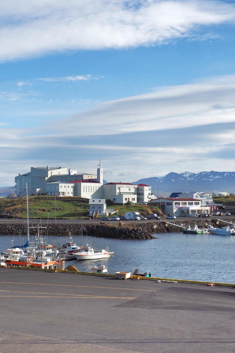 Port de la ville de Stykkishólmur dans le nord ouest d'Islande
