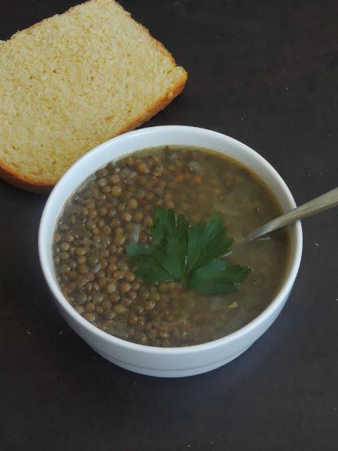 Gluten free Lentils Soup, French Lentils Soup