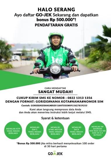 Lowongan Kerja Driver Go Jek Serang Banten Oryzaonline Com