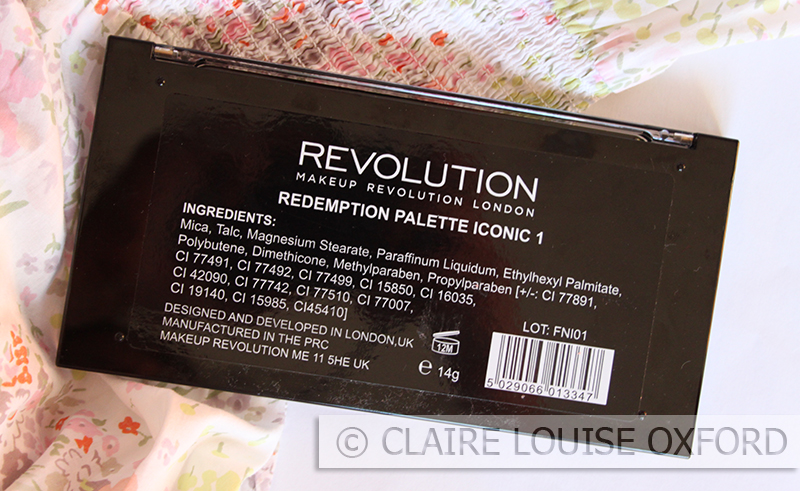 Makeup Revolution Iconic 1 Redemption Palette | Review
