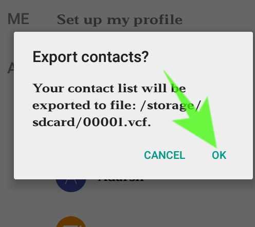 Phone me save contact memory card me copy kaise kare