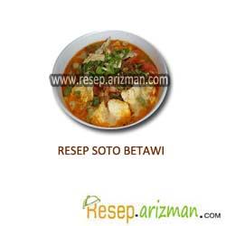 Resep Soto Betawi Masakan Indonesia